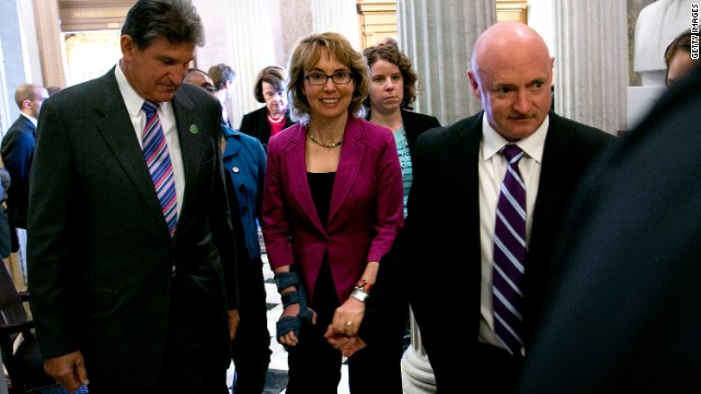 On Capitol Hill, Giffords, Kelly express optimism over gun bill