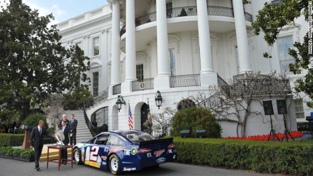 Photo: Obama honors NASCAR champ