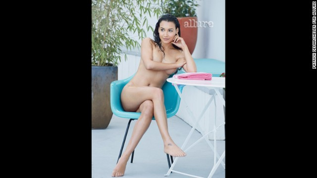 Naya Rivera bares all in the May issue of Allure, r<a href='http://marquee.blogs.cnn.com/2013/04/16/glee-star-strips-down-for-magazine-spread/?iref=allsearch' target='_blank'>evealing that she's far more confident about her body now</a> than she was when she was working at her pre-fame job at Hooters.