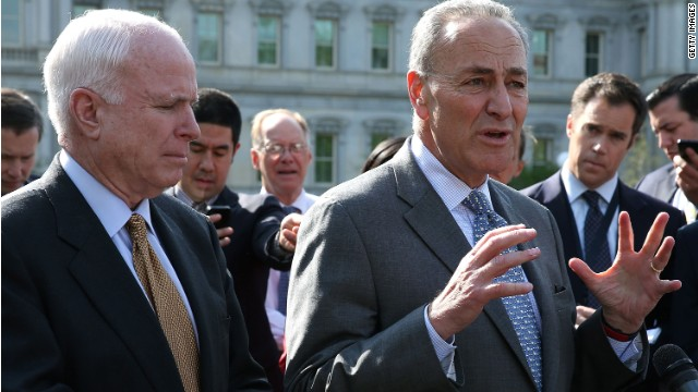 McCain, Schumer feeling 'very good' about immigration bill