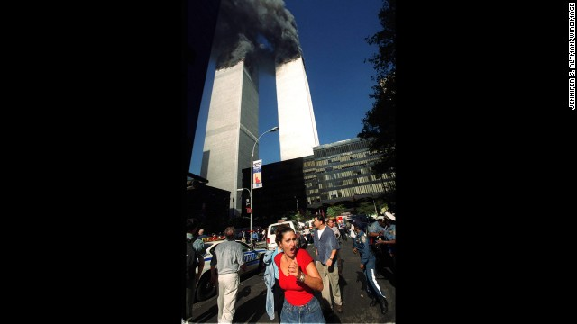 September 11, 2001. Americans need no reminder of the significance of this terrible date. Here, people flee the World Trade Center before its devastating collapse. See Ground Zero now.