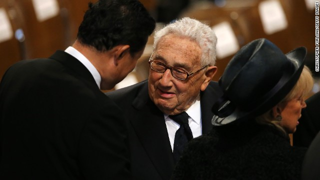 Former U.S. Secretary of State Henry Kissinger is among the dignitaries at St. Paul's Cathedral.