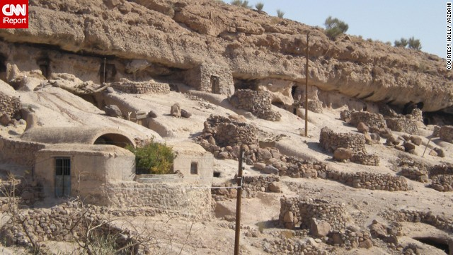 "People live in ancient cave dwellings in Maymand. ""I think Americans should see the real side of Iran -- not the political side,"" said Holly Yazdani, who shot this photo. See more images on CNN iReport."