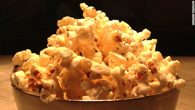 One of the top restaurants in L.A., says Zagat, this romantic spot is known for its imaginative dishes. The rosemary-hinted popcorn is no exception.