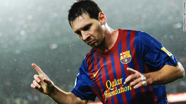 Lionel Messi helped Barcelona win the Spanish League title in the 2012-13 season.