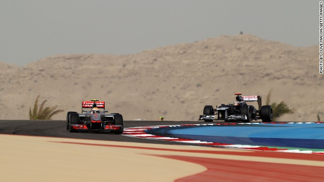 The Sakhir circuit was constructed in the desert outside the capital of Manama which means sand often blows across the track -- those conditions can be hard work for Formula One's engines and tires