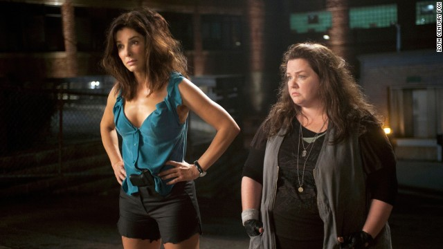 Sandra Bullock stars as Special Agent Sarah Ashburn and Melissa McCarthy stars as Det. Shannon Mullins in