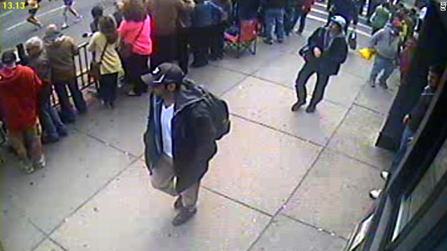 FBI releases video showing bombing suspects