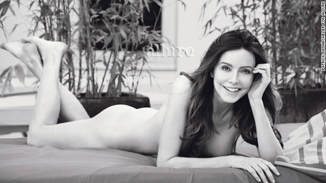 """Cougar Town"" star Christa Miller looks so comfortable here, you might not have guess it was her first fully nude shoot."