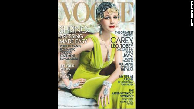 "Thanks to Carey Mulligan's role as Daisy Buchanan in Baz Luhrmann's adaptation of ""The Great Gatsby,"" the <a href='http://www.vogue.com/magazine/article/great-expectations-carey-mulligan-as-daisy-buchanan-in-the-great-gatsby/#1' target='_blank'>May issue of Vogue</a> offers a glamorous 1920s take on the actress."
