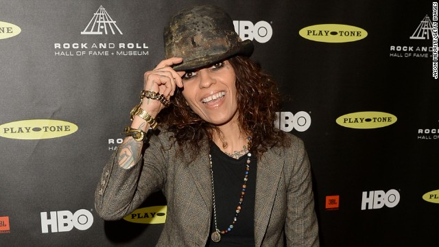 Singer/songwriter Linda Perry arrives at Los Angeles' Nokia Theatre.