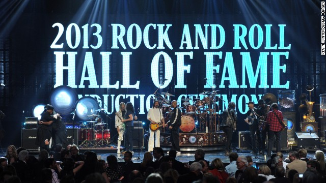 Rush, Randy Newman, Heart, Albert King, Donna Summer and Public Enemy are honored at the Rock and Roll Hall of Fame induction ceremony on Thursday.