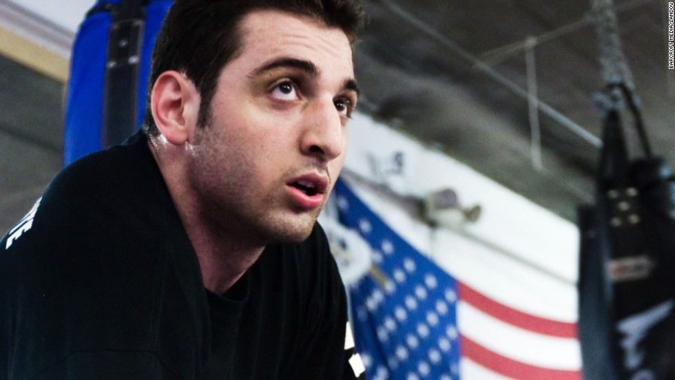Tamerlan Tsarnaev, Boston Marathon bombings suspect, was photographed for a university graduate magazine story in April 2009. The photographer did not want to be named for this story. According to the published article, he hoped to be selected for the U.S. Olympic boxing team and become a naturalized American. Authorities say an overnight shootout with police left him dead on Friday, April 19. <a href='http://www.cnn.com/SPECIALS/us/boston-bombings-galleries/index.html'>See all photography related to the Boston bombings.</a>