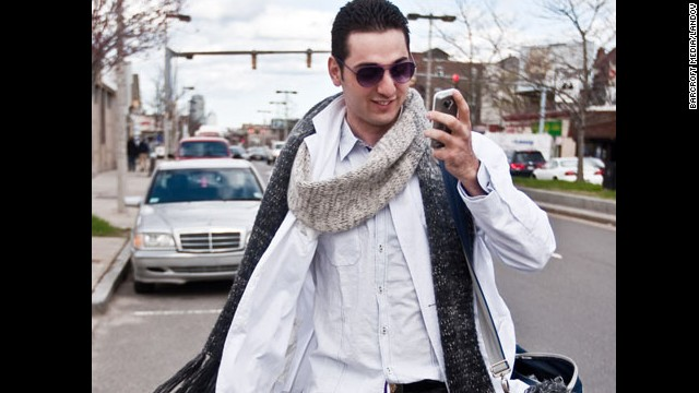 Tsarnaev answers a call while walking to boxing practice at the Wai Kru Mixed Martial Arts center in Boston, Massachusetts, according to the article.