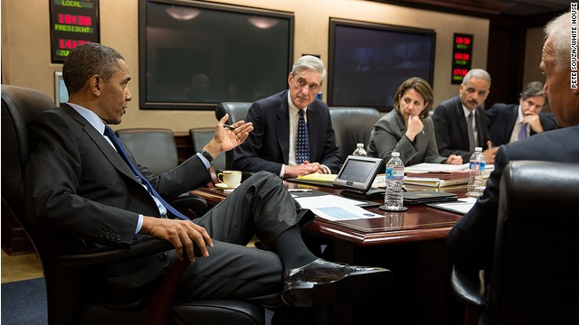 Photo: Obama briefed in the Situation Room