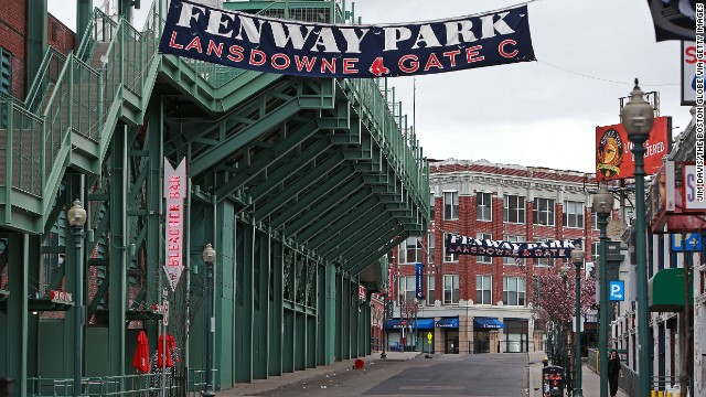 The Boston Red Sox postponed a game with the Kansas City Royals scheduled for April 19 because of the manhunt.