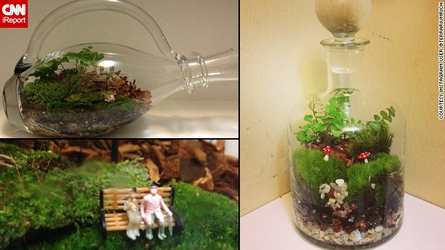 Instagram user @terrariumrich shared photos of some of his <a href='http://ireport.cnn.com/docs/DOC-959895'>bottled creations</a>.