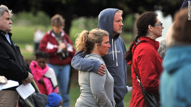 Huntsville, Alabama, residents hold a prayer vigil on Friday, April 19, for those lost and injured in the bombing at the Boston Marathon. Three people died when two bombs went off Monday, April 15, near the finish line. <a href='http://www.cnn.com/2013/04/15/us/gallery/boston-marathon-explosions/index.html'>View photos from the attacks.</a>