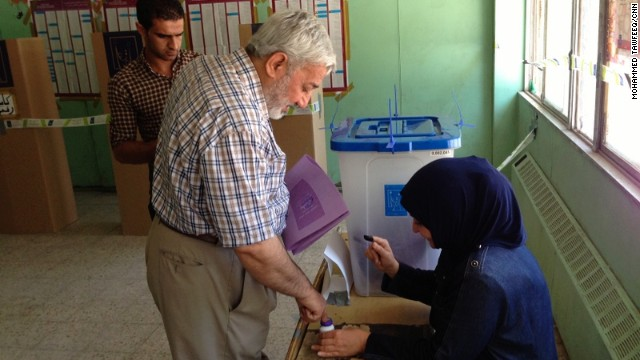 The voting in the provincial elections in Iraq on Saturday, April 20, is the first time Iraq has held elections without security help from the United States.