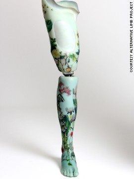 "Roche is now delighted to wear the floral-design leg: ""I've had an incredible response to the leg from other amputees and able-bodied people. I just wish I had more opportunities to wear it. I need to go to more parties!"""