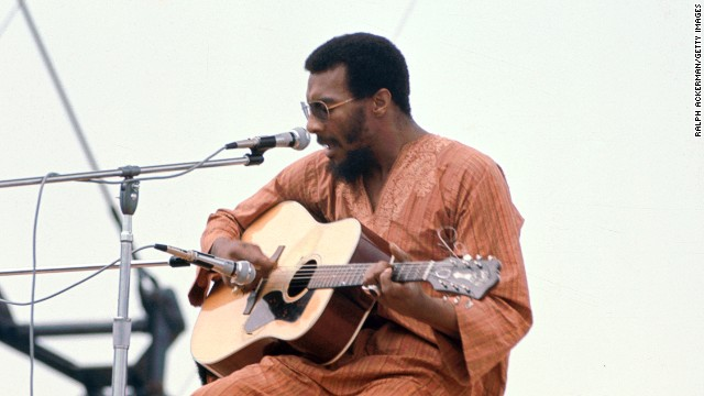 Folk singer Richie Havens, the opening act at the 1969 Woodstock music festival, died on April 22 of a heart attack, his publicist said. He was 72.