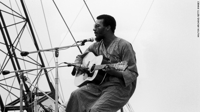 "Havens performs at Woodstock. After gaining attention at the festival, the New York native recorded a soulful cover of the Beatles' ""Here Comes the Sun,"" which rose on the pop charts in 1970."