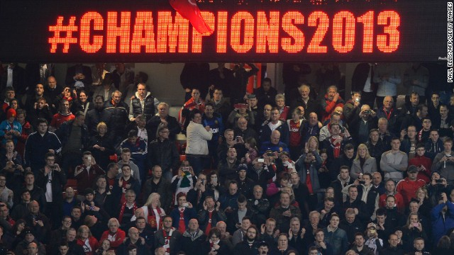 United's fans had double reason to celebrate as the victory ended the hopes of rivals Manchester City, who won the title on a dramatic final day of last season.