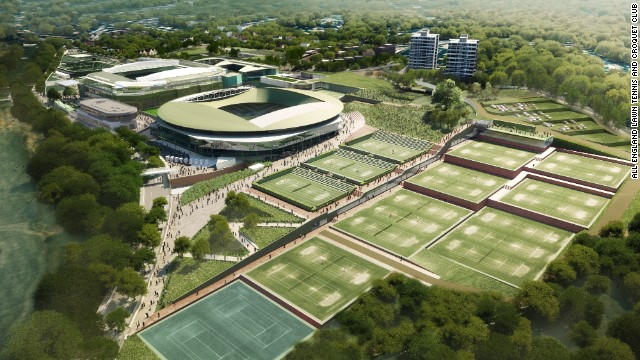 This is an artist's impression of the completed project, which is expected to be ready in time for the 2019 tournament.