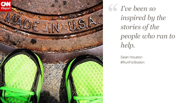 "Sean Houston, a CNN employee in Atlanta, says people who helped victims in Boston ""remind us of the best of America."""