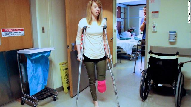 Una bomba en Boston destruyó el pie de una bailarina, pero no su espíritu