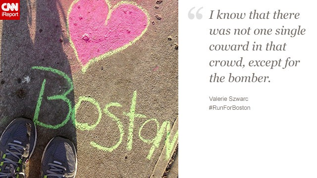 """I was left with a surprising anger"" after the bombings, said Valerie Szwarc, 47. She wants to qualify for the Boston Marathon to show ""good will always outweigh evil."""