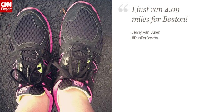 "Jenny Van Buren, 43, from Ohio, said the Boston bombing only ""makes me want to run farther!"""