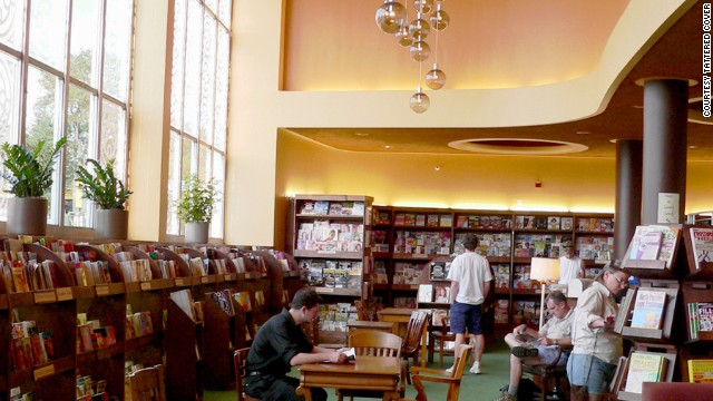 Davidson's favorite branch of Denver's Tattered Cover is in the historic Lowenstein Theater on East Colfax Avenue.