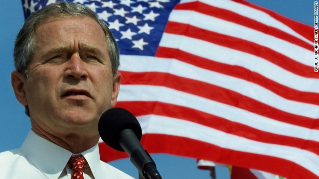 George W. Bush campaigns during an all-day swing through Florida two days before Election Day in 2000.