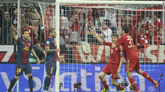 Bayern arrasa al Barcelona 4-0 en la primera semifinal de la Champions