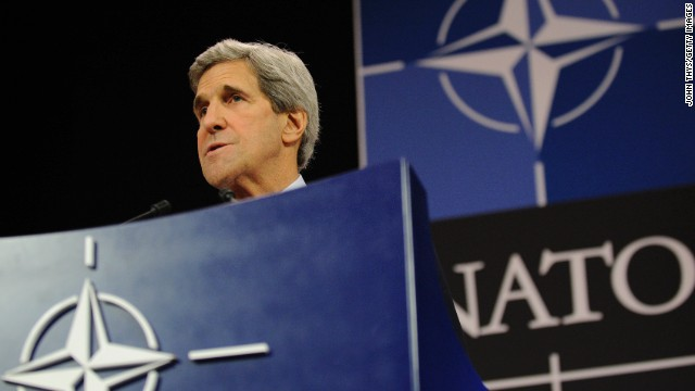 Kerry warns NATO on potential use of chemical weapons in Syria