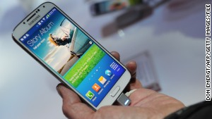 The new phone is expected to look different from Samsung\'s popular Galaxy S4, shown here.