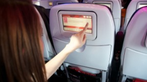 Virgin\'s in-flight entertainment system now doubles as Cupid.