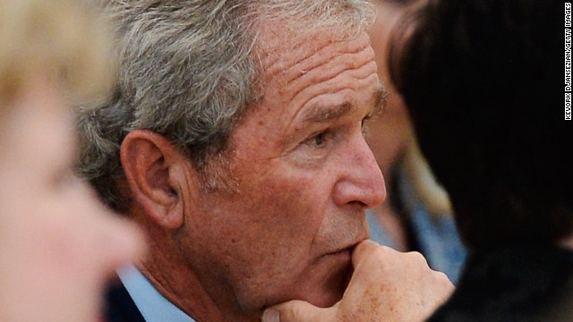 Plane carrying George W. Bush diverted after smell of smoke