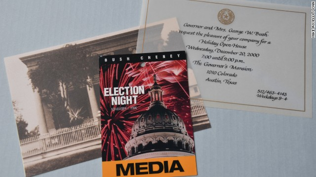 "All ending -- or in this case -- not ending on Election Night. Many ""traveling press"" took up residence in Austin for the recount - being there so long - Christmas Party Invites were sent out."