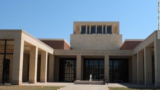 The George W. Bush Presidential Library and Museum in Dallas, Texas.