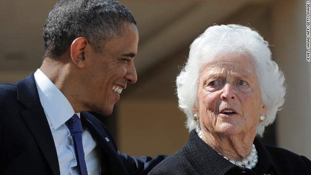 Bushes thank Obama, Clinton for well wishes