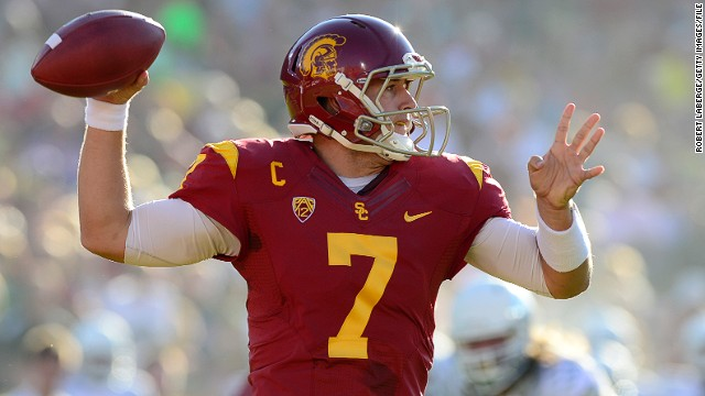 Every year the NFL's 32 teams get to pick, in reverse order according to the previous year's standings, the top college talent. USC Trojans quarterback Matt Barkley is one of the most highly-rated for 2013. Follow the draft live here.