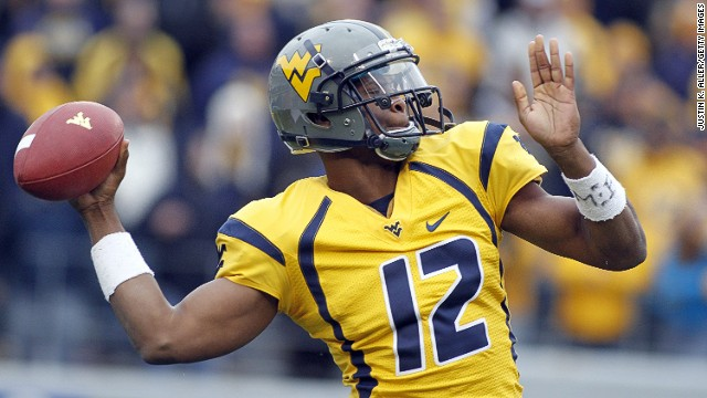 West Viriginia's Geno Smith has been <a href='http://bleacherreport.com/articles/1599736-geno-smith-5-things-you-need-to-know-about-the-west-virginia-qb' target='_blank'>tipped by some as the best quarterback in the draft. </a>Last year he broke the Mountaineers' consecutive pass completions record and <a href='http://www.big12sports.com/ViewArticle.dbml?DB_OEM_ID=10410&ATCLID=205819874' target='_blank'>tied the NCAA completion percentage record.</a>