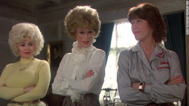 "In 1980's ""Nine to Five,"" secretaries Doralee Rhodes, Judy Bernly and Violet Newstead make sweeping improvements to office morale and efficiency. Sure, they do so by kidnapping their boss and forging memos, but let's not quibble over details. Maintaining office productivity and positivity is what really matters here."