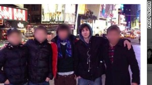 This image from VK.com shows Dzhokhar Tsarnaev in New York\'s Times Square.