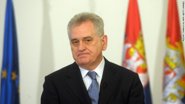 Serbian president Tomislav Nikolic is pictured in Belgrade on January 16, 2012.