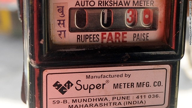 Don't be fooled - that's 13 rupees, not 130. It's time taxi fares from the airport to the city were reduced and enforced.