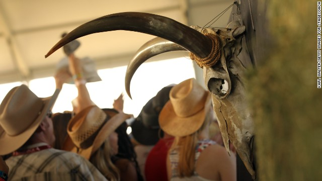 Fans enjoy the atmosphere at the Stagecoach California's Country Music Festival on April 26, 2013 in Indio, California.