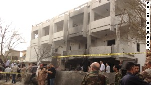 A car bomb exploded just outside the French Embassy in Tripoli early morning on Tuesday, April 23, injuring two French security guards and a Libyan girl.